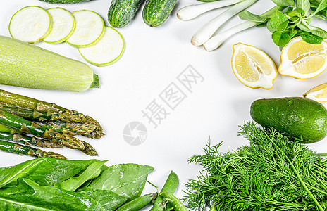 ins风绿色蔬菜海报图片