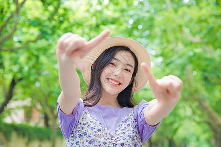 青春活力少女写真图片