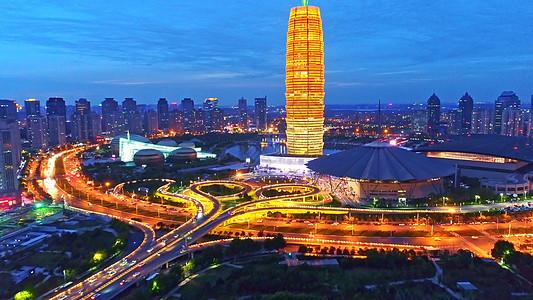 郑州东城市夜景图片
