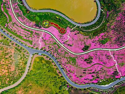 云南弥勒太平湖森林公园航拍图片