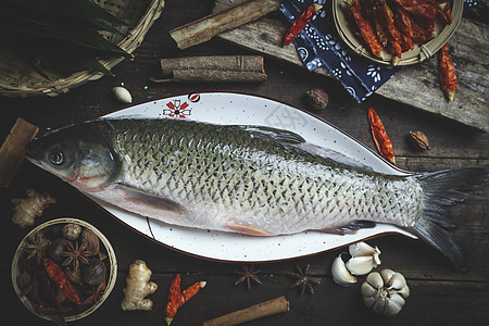 新鲜草鱼图片