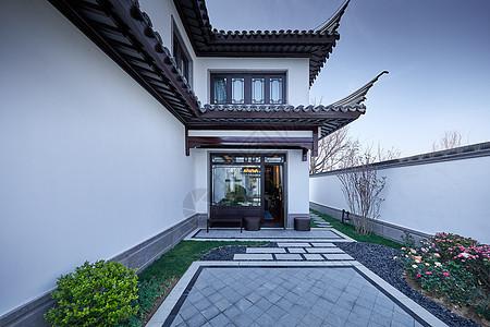 山东中式别墅景观大院建筑图片