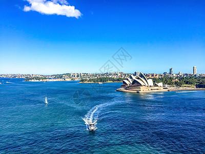 悉尼歌剧院俯拍快艇图片