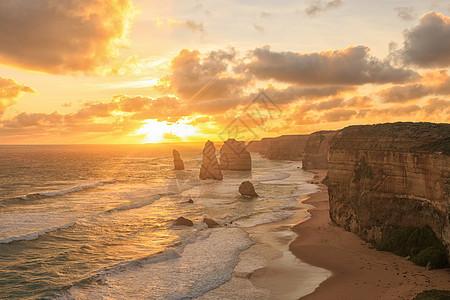澳大利亚坎贝尔港国家公园大洋路著名的十二使徒岩图片