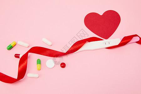 避孕药和验孕棒图片