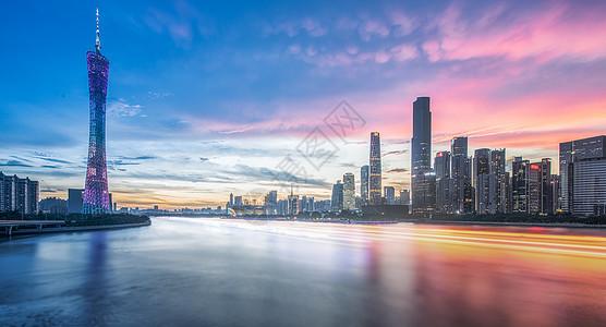 广州cbd黄昏图片