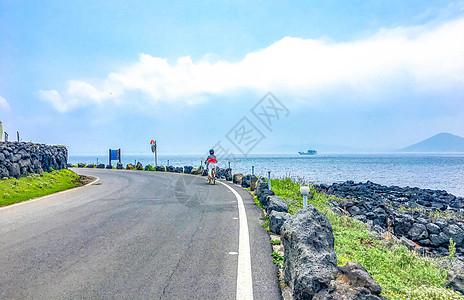 韩国海岛骑行图片