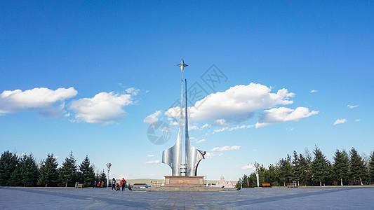 黑龙江省大兴安岭漠河西山公园的北极星广场图片