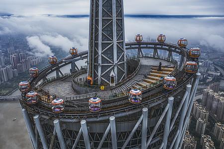 广州塔小蛮腰缆车摩天轮图片