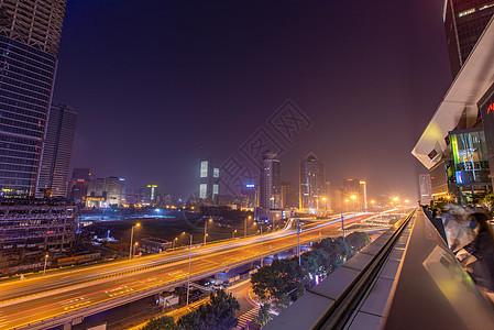 北京国贸桥cbd夜景图片