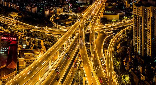 航拍广州中山立交桥车流图片
