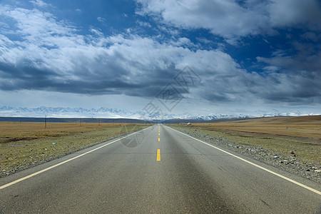 西藏公路自然风光图片