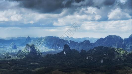 泰国山脉乌云群山自然风光图片