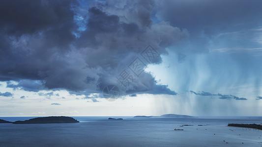 泰国湾海岛暴风雨自然灾害图片