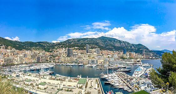 尼斯城市港口全景图片