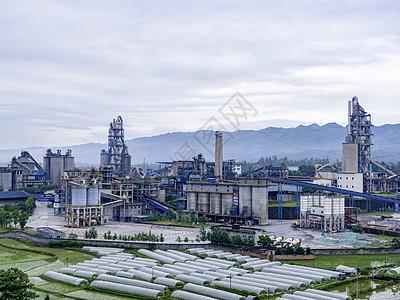 航拍大型工场图片