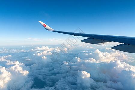 飞机机舱外景色图片