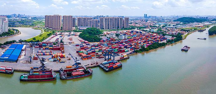 航拍广州南海国际货柜码头图片