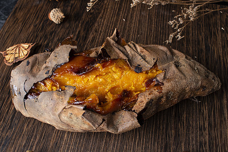 冬季考地瓜美食图片