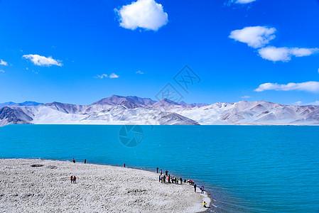 新疆喀什帕米尔高原白沙湖自然风光图片
