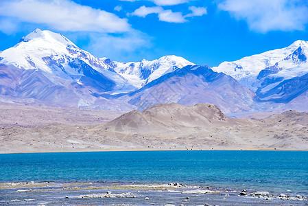 新疆喀什帕米尔高原慕士塔格峰自然风光图片
