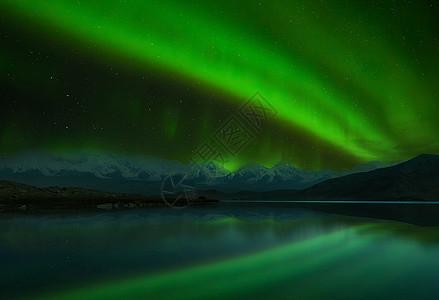冰岛北极光夜景风光图片