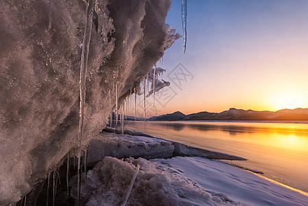 鸭绿江冬天风光图片