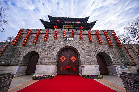 春节台儿庄古城风光图片