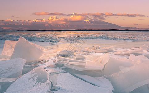 海岸冬天风光图片
