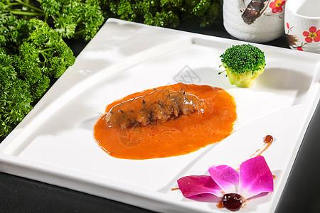鲍汁海参美食图片