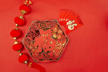 新年静物年货和红包图片