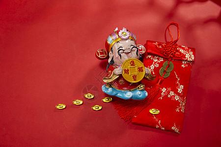 新年静物财神和福包图片
