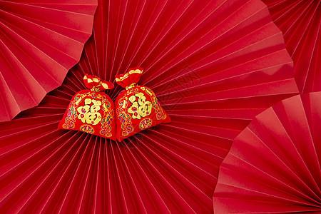 喜庆的新年静物背景图片