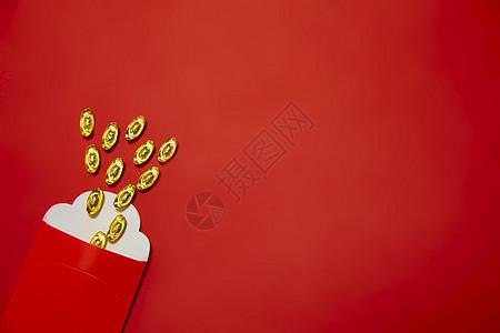 新年静物金元宝图片