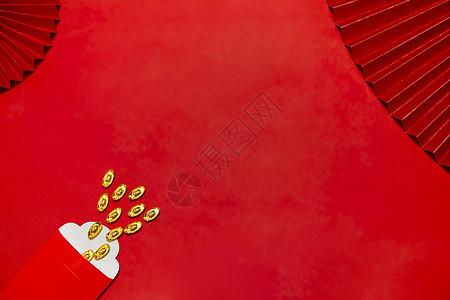 喜庆的新年静物金元宝图片