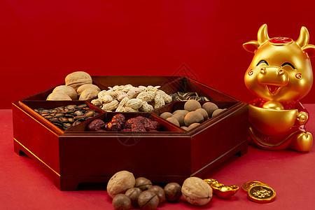 喜庆新年年货静物八宝盒图片