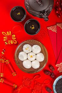 中国风拍摄元宵节美食汤圆图片