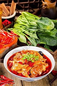 中餐美食水煮肉片图片