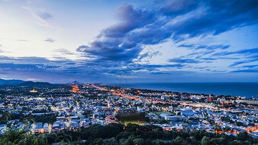 泰国华欣城市夜景实拍图片