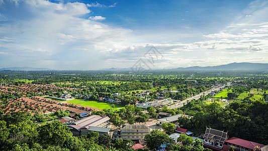 泰国中部城市佛丕府全景图片