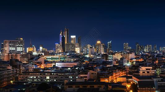 泰国首都曼谷城市夜景图片