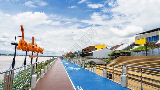 泰国那空帕侬府城市地标城市标志图片
