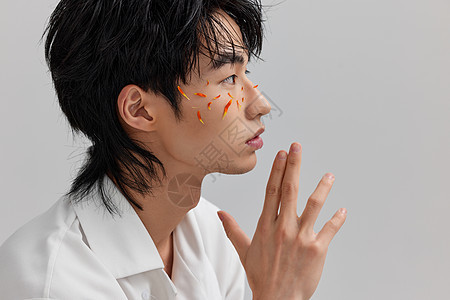 韩系男性潮流时尚写真图片