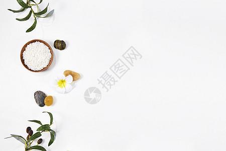 SPA精油美容背景素材图片