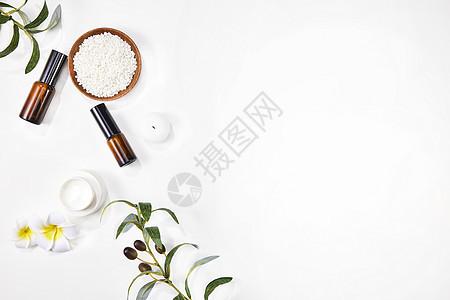 SPA精油美容护肤背景素材图片