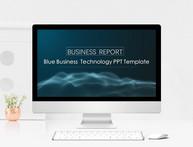 简约大气深蓝科技线条商务通用PPT模板图片