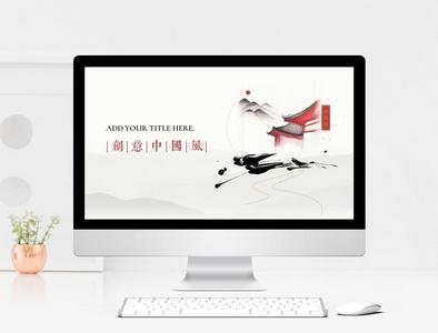 清新复古中国风商务通用PPT模板图片