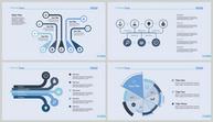 浅蓝色综合关系信息可视化图表合集ppt文档