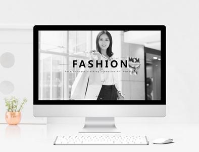 时尚欧美风时装品牌宣传PPT模板图片