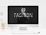 黑白欧美风时尚品牌画册宣传通用PPT模板图片